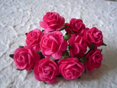 Бумажные розы за 5 минут
