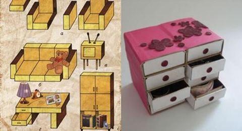 Как сделать поделки из спичечных коробков