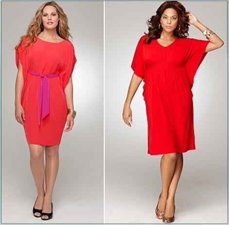 Фото красное платье для полных