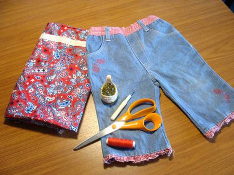 Как из старых джинсов сделать новую юбку s01036788 юбки шитье джинсы брюки