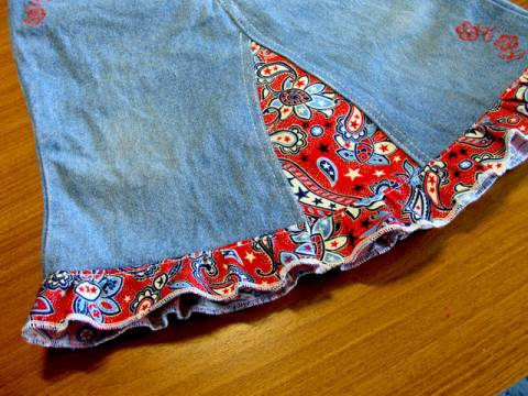 Как из старых джинсов сделать новую юбку s83769901 юбки шитье джинсы брюки